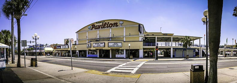 old photo of the Pavilion in Myrtle Beach