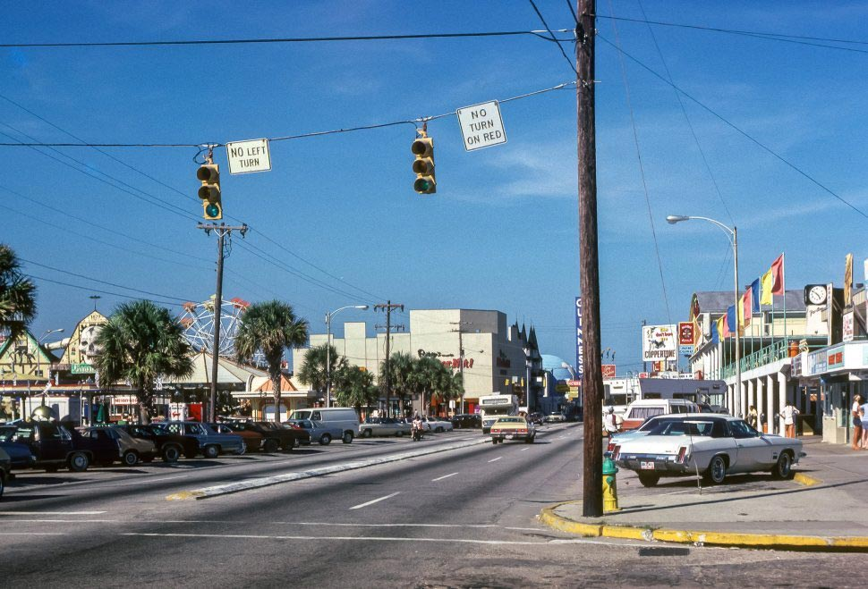Old photo of the street view in Myrtle Beach